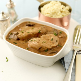 Chicken in a Cognac Cream Sauce