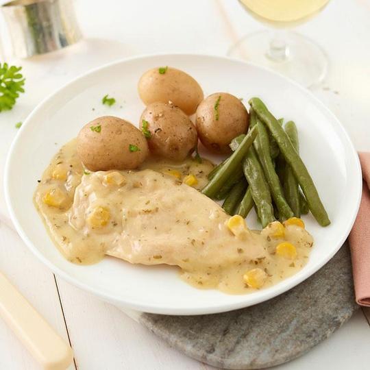 Chicken in Parsley Sauce