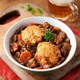 Beef Casserole & Dumplings