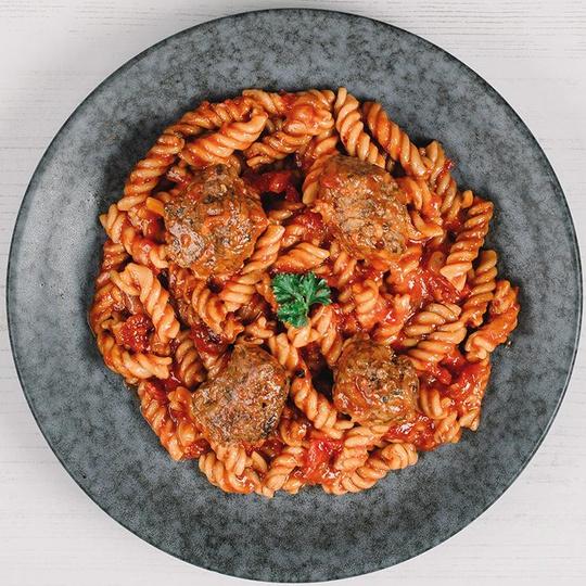 Chicken Meatballs & Pasta