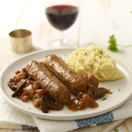 Sausage Chasseur with mash