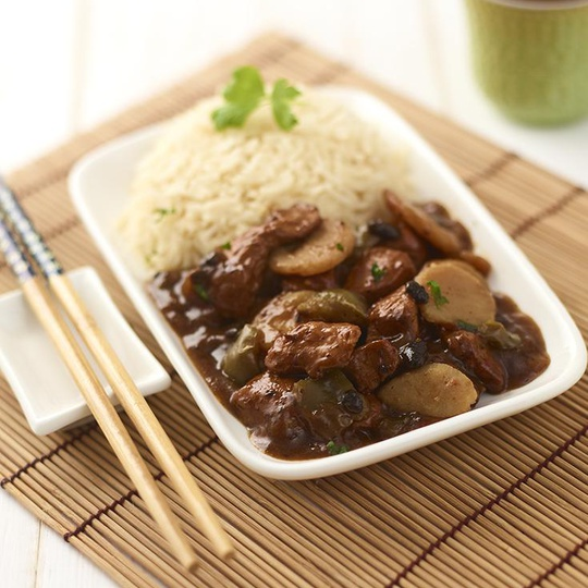 Chicken in Black Beans Sauce with Rice