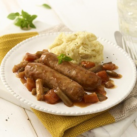 Pork & Apple Sausages with Mash