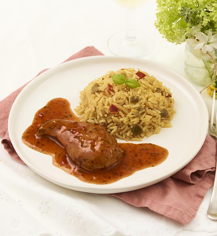 Chicken in Tomato Basil Sauce