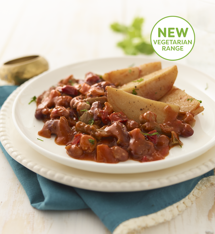 Vegetarian Chilli with Wedges